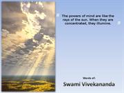 Swami Vivekananda - Powers of Mind
