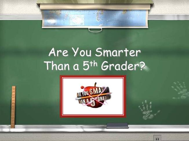 Interactive Tefl Game Template Are You Smarter Than A 5th Grader