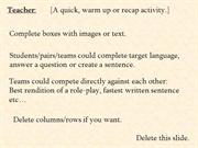 Interactive TEFL Game Template - Bomb Game