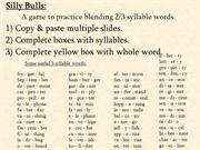 Interactive TEFL Game  Template - Quiz - Silly Bulls