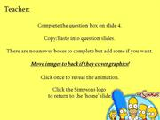 Interactive TEFL Game Template - Quiz - Simpsons