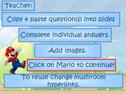 Interactive TEFL Game Template - Quiz - Super Mario Classroom Blast