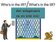 Interactive TEFL Game  Template - Who Is In The Lift