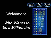 Interactive TEFL Game Template - Who Wants to be a Millionaire 2