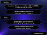 Interactive TEFL Game Template - Who Wants to be a Millionaire 3