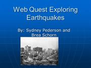 Exploring Earthquakes