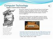 Apple's Innovative Nature Presentation-Foundations Of Computing