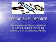 DOPING EN EL DEPORTE