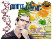 Nutritional Genomics