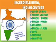 Incredible India: Indian Culture
