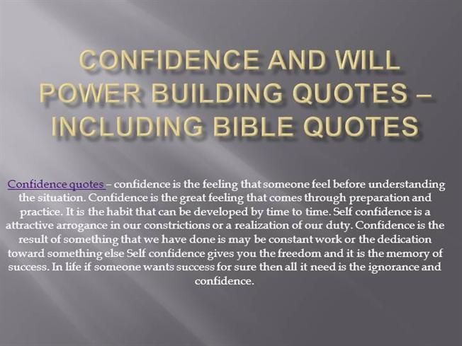 Building Quotes Amazing Confidence And Will Power Building Quotes Including Bible Quotes