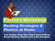 Tom's TEFL - Parent's Phonics/Home Reading Workshop
