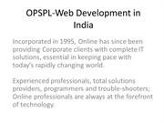 OPSPL-Web Development in India