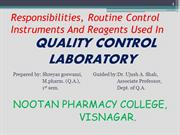 Quality control laboratory by shreyas