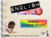 Tom's TEFL - Common Errors in Hong Kong