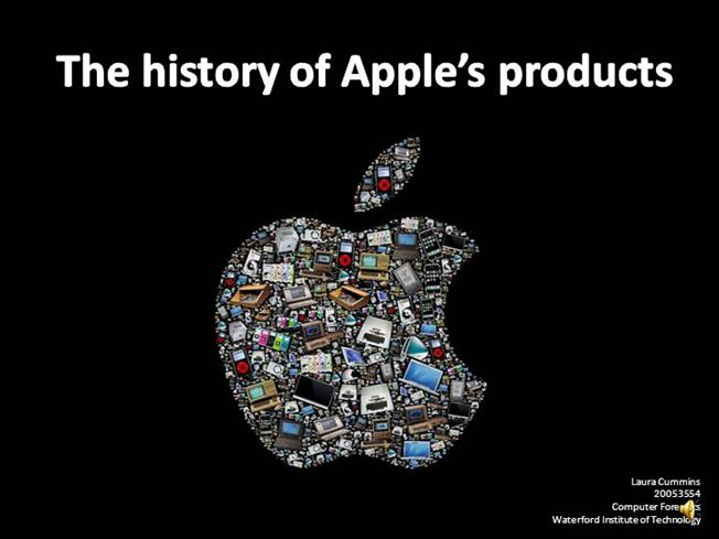 The History Of Apples Products Authorstream