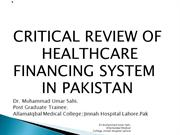 healthcare financing system