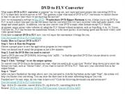 DVD to FLV Converter