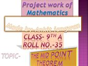 mid point theorem- ankit jangwan