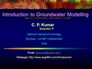 Introduction to Ground Water Modelling