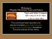 Tailor made Tanzania wildlife safaris, Cultural Tours, Car Rental