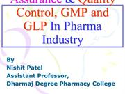 QUALITY ASSURANCE GMP and GLP