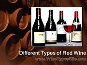 Different Types of Red Wine