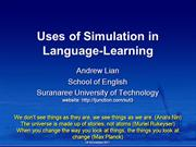 Simulation in language-learning
