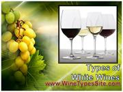 Types of White Wines