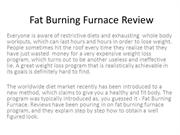 Fat Burning Furnace Review - Comprehensive