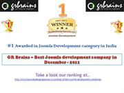 GR Brains – Best Joomla development company in December - 2011