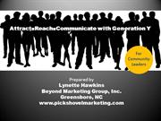 Attract Reach & Communicate with Young Adults