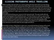 Clicking photographs while travelling