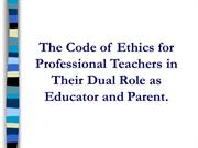 Bacolod - Code of Ethics 090408