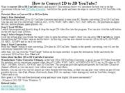 How to Convert 2D to 3D YouTube