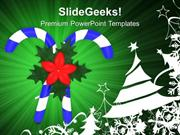 CHRISTIAN CANDY AND CHRISTMAS TREE CELEBRATION PPT TEMPLATE