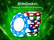 SPORTS CASINO THEME WITH POKER GAME PPT TEMPLATE