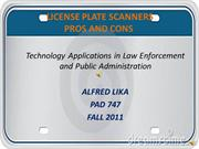 License Plate Scanners Pros and Cons Power Point