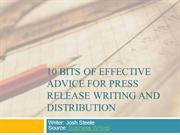 How to write Press Release Writing and Distribution effectivley