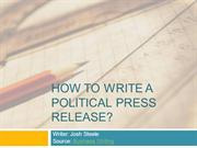 How to Write a Political Press Release