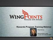 WINGPOINTS REWARDS PROGRAM TRAINING