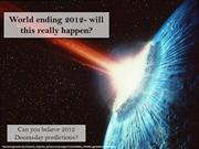 Doomsday 2012 predictions
