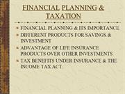 FINANCIAL PLANNING & TAXATION FINAL
