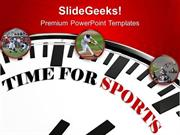 SPORTS TIME FOR SPORTS CONCEPT COMPETITION PPT TEMPLATE