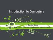 Introduction to Computers 2010
