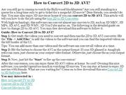 How to Convert 2D to 3D AVI