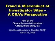 fraud and misconduct