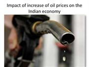 Impact of increase of oil prices on the