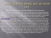 Hope Quotes Bring joy in your life