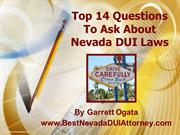 Top 14 Questions To Ask About Nevada DUI Laws